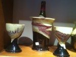 Sturbridge Pottery wine cooler and two goblets gifted to Stourbridge in 2012.