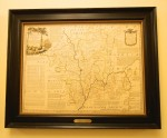 A 1756 map of Worcester County in the UK gifted to Sturbridge in 2011.