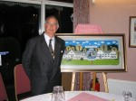 Framed picture of the Publick House - gifted to Stourbridge Rotary in 2004.  President Mike McConville (UK) accepting.
