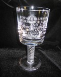 Stuart Crystal Goblet - gift from Stourbridge - 2012.