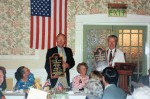 Sturbridge President John Larsen and Stourbridge President Roy Swinbourne with Twinning Plaques presented in Stourbridge in 1994.  The plaques are hung at our respective meeting sites.