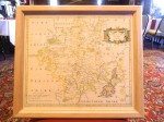 A 1720 map of Worcester County in the UK gifted to Sturbridge in 2011.