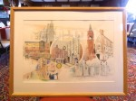 A framed picture of Stourbridge, UK - gifted to Sturbridge Rotary in 2004.