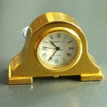 Each Sturbridge couple that visited in 1999  received a miniature mantelpiece clock.