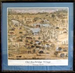 Framed print of Old Sturbridge Village Map gifted to Stourbridge in 2002.