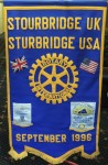 Twinning Club Banner gifted to Stourbridge in 1996.