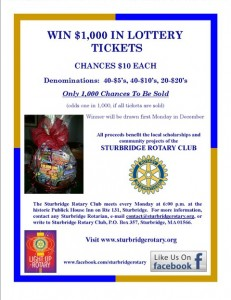 Lottery Basket flyer - 2014