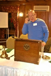 President Larry calling the lucky winner.