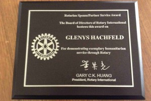 Glenys Award photo 8-24-2015