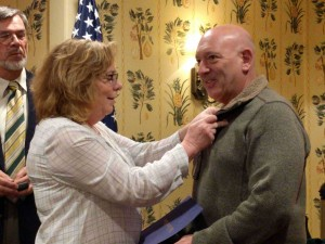 Mary pinning Larry - PHF 3-21-2016