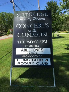 Concert sign on Common