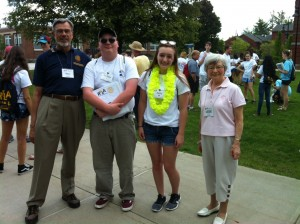 Andrew and Kayla with PDG Klaus and Glenys Hachfeld who attending the Sunday activities.