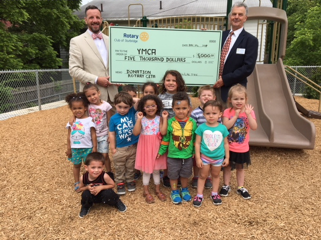 YMCA check from CETA - June 20, 2018